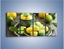 Obraz na płótnie – Cytrynowo-limonkowe ciasteczka – czteroczęściowy JN724W1
