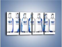 Obraz na płótnie – Czysta wódka w butelkach – czteroczęściowy JN748W1