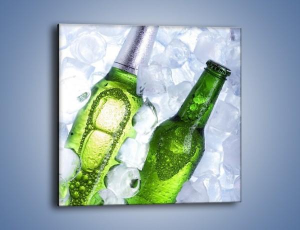 Obraz na płótnie – Podwójne piwo – jednoczęściowy kwadratowy JN145