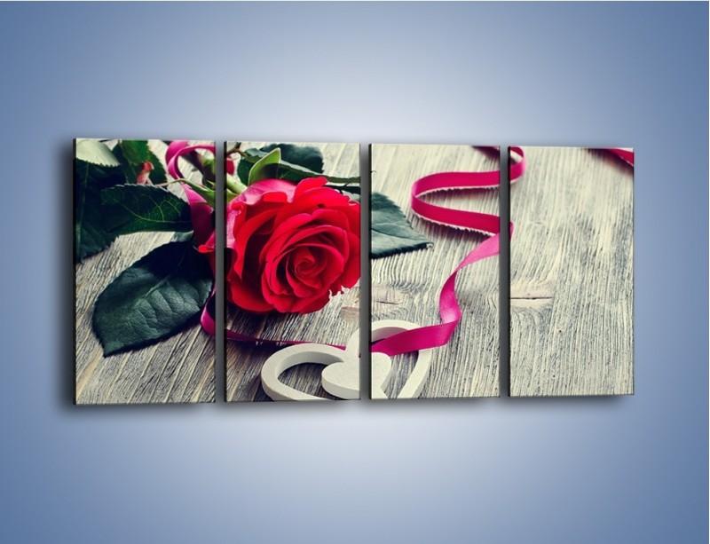 Obraz na płótnie – Od serca aż po różę – czteroczęściowy K1013W1