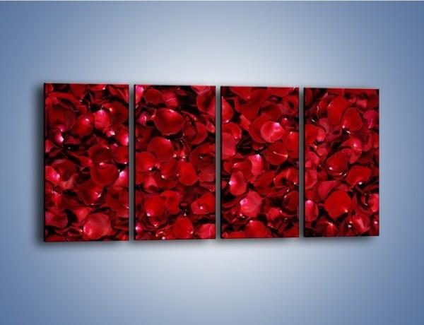 Obraz na płótnie – Dywan usłany płatkami róż – czteroczęściowy K175W1