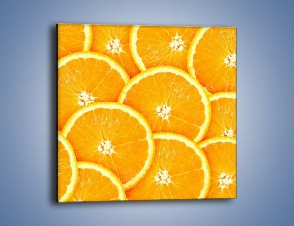 Obraz na płótnie – Pomarańczowy zawrót głowy – jednoczęściowy kwadratowy JN154