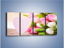 Obraz na płótnie – Miłość do tulipanów – czteroczęściowy K292W1