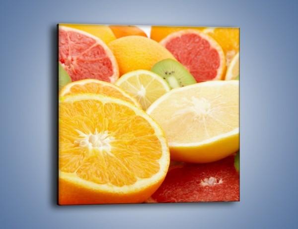 Obraz na płótnie – Kwaśny kęs witamin owocowych – jednoczęściowy kwadratowy JN157