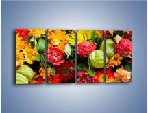Obraz na płótnie – Bukiet pełen soczystych kolorów – czteroczęściowy K461W1
