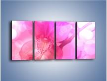 Obraz na płótnie – Budzący dzień w różowym kwiecie – czteroczęściowy K487W1