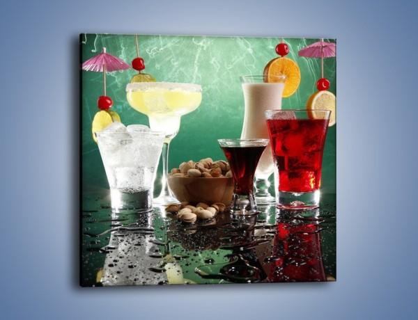 Obraz na płótnie – Wystrzałowe drinki z parasolką – jednoczęściowy kwadratowy JN159