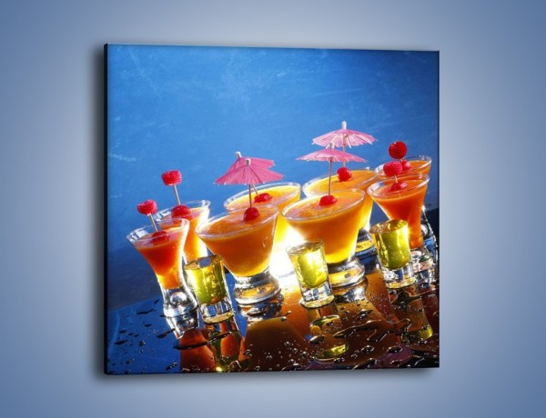 Obraz na płótnie – Tropikalne drinki nocą – jednoczęściowy kwadratowy JN160