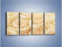 Obraz na płótnie – Bukiet herbacianych róż – czteroczęściowy K710W1