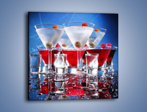 Obraz na płótnie – Martini wstrząśnięte zmieszane – jednoczęściowy kwadratowy JN161