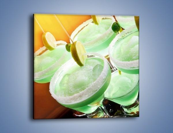 Obraz na płótnie – Zielone alkoholowe szaleństwo – jednoczęściowy kwadratowy JN162