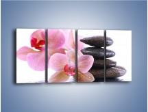 Obraz na płótnie – Deszcz kwiaty i kamienie – czteroczęściowy K861W1