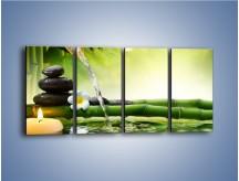 Obraz na płótnie – Bambus i źródło wody – czteroczęściowy K930W1