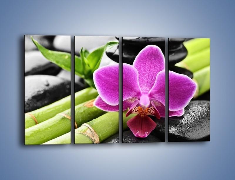 Obraz na płótnie – Idealnie ułożony kwiat – czteroczęściowy K931W1