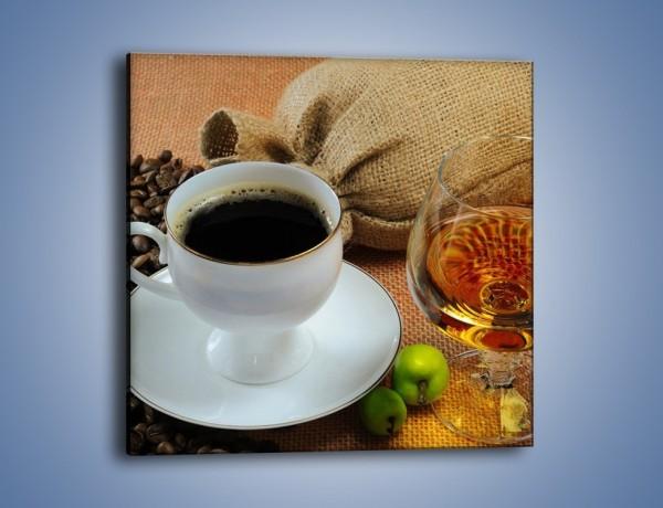 Obraz na płótnie – Wieczorowa kawa z prądem – jednoczęściowy kwadratowy JN166