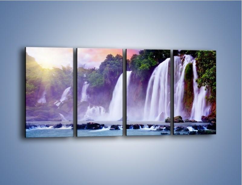 Obraz na płótnie – Wodospady jak z bajki – czteroczęściowy KN026W1