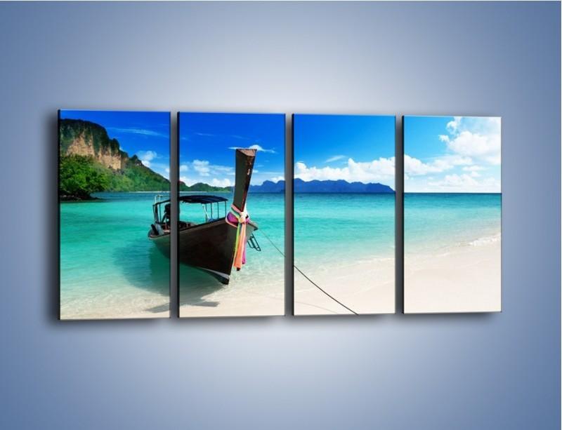 Obraz na płótnie – Wodny transport w tajlandii – czteroczęściowy KN083W1