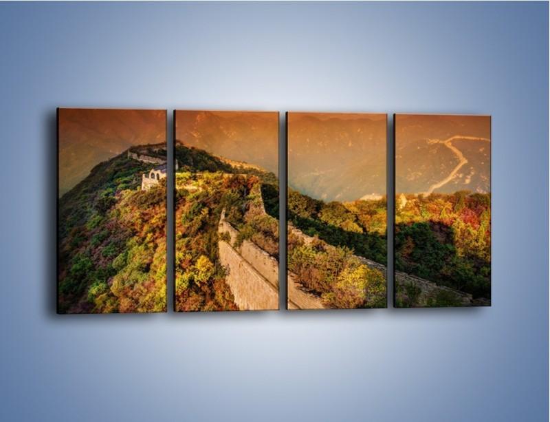 Obraz na płótnie – Zarośnięty krety most – czteroczęściowy KN1020W1