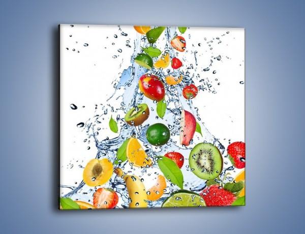Obraz na płótnie – Wirujące owocowe szaleństwo – jednoczęściowy kwadratowy JN171