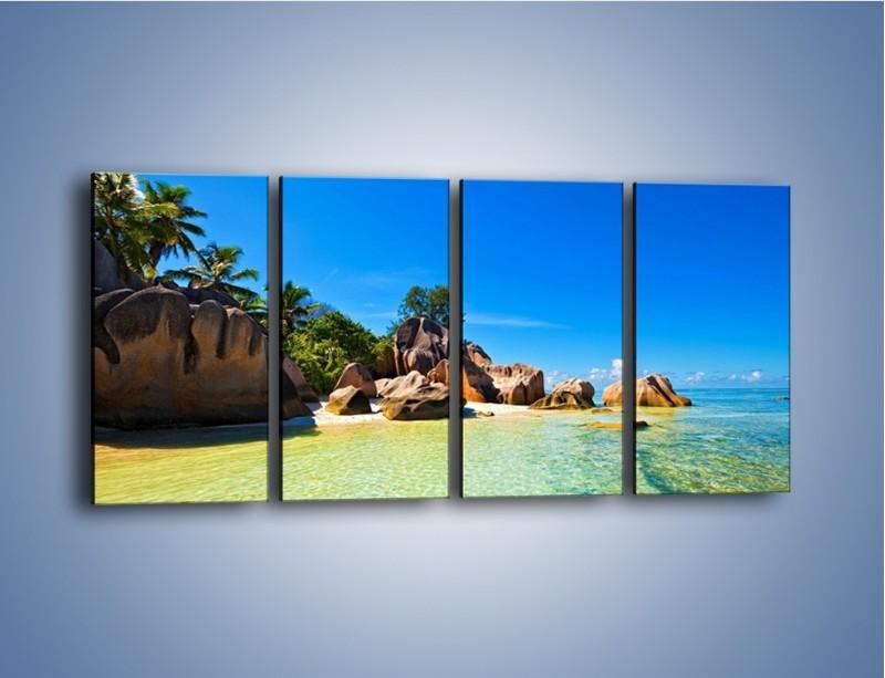 Obraz na płótnie – Bezludna wyspa i ja – czteroczęściowy KN1058W1