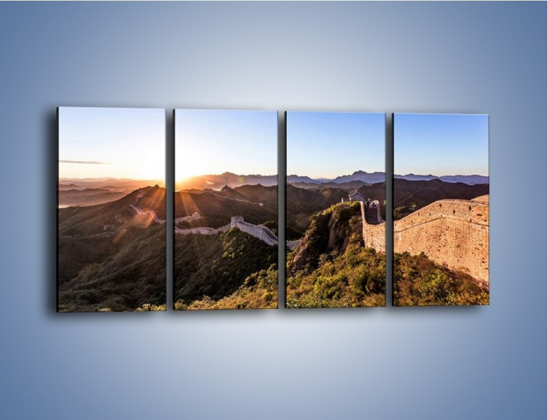 Obraz na płótnie – Za górami za lasami – czteroczęściowy KN1084AW1