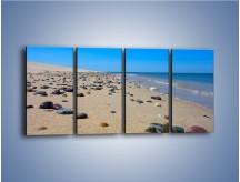 Obraz na płótnie – Całe morze kamyczków – czteroczęściowy KN1086AW1