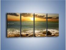 Obraz na płótnie – Brzegiem w stronę morza – czteroczęściowy KN1092AW1