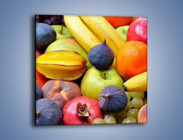 Obraz na płótnie – Owocowe kolorowe witaminki – jednoczęściowy kwadratowy JN173