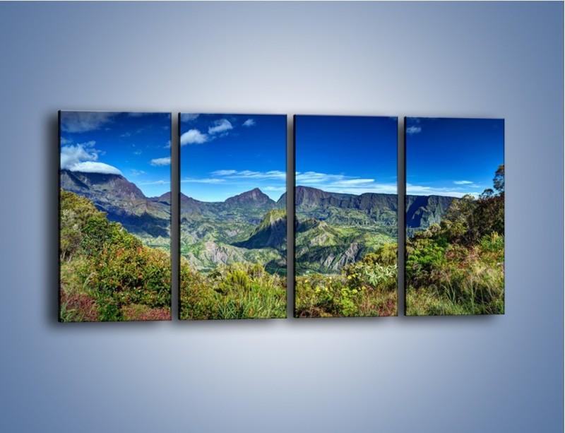 Obraz na płótnie – Zieleń ukryta wysoko w górach – czteroczęściowy KN1106W1