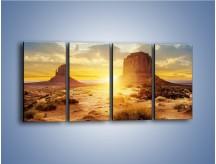Obraz na płótnie – Budowle na piachu – czteroczęściowy KN1133AW1