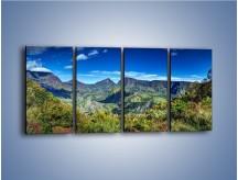 Obraz na płótnie – Cały góry pokryte zielenią – czteroczęściowy KN1140AW1