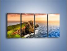 Obraz na płótnie – Irlandzkie klify i morze – czteroczęściowy KN1153AW1