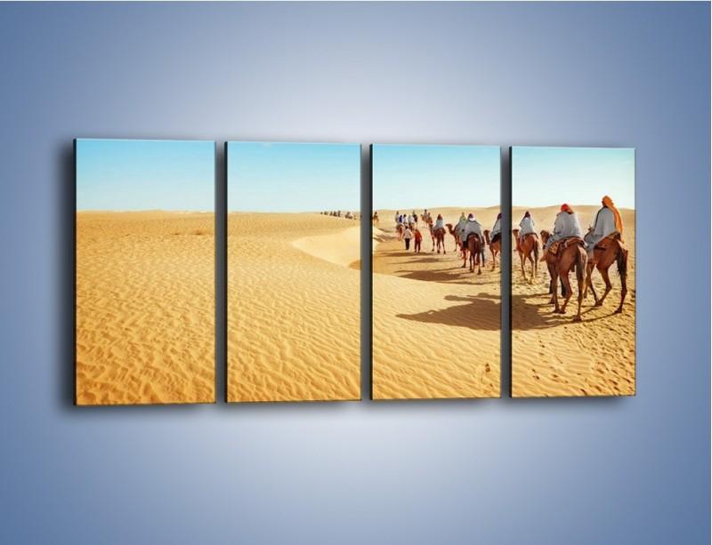 Obraz na płótnie – Szła karawana przez pustynię – czteroczęściowy KN1173AW1