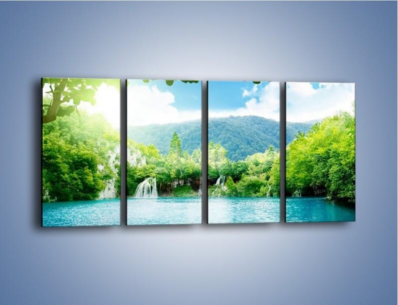 Obraz na płótnie – Kąpiel w chłodnej wodzie – czteroczęściowy KN1200AW1