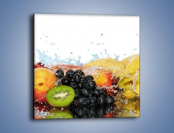 Obraz na płótnie – Owocowe nuty skąpane w wodzie – jednoczęściowy kwadratowy JN176
