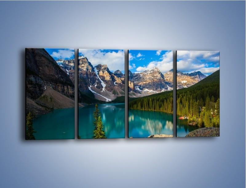 Obraz na płótnie – Spokój w górach – czteroczęściowy KN1258AW1