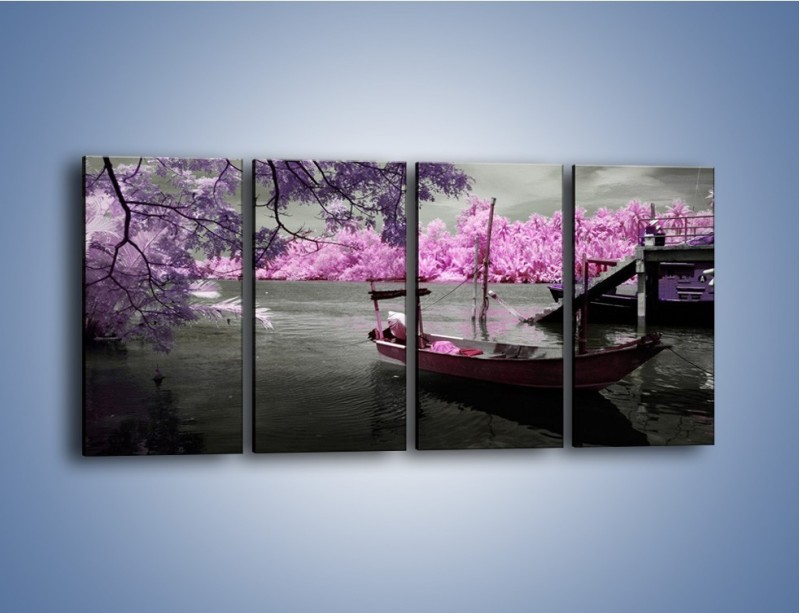 Obraz na płótnie – Krajobraz jak z japonii – czteroczęściowy KN1277AW1