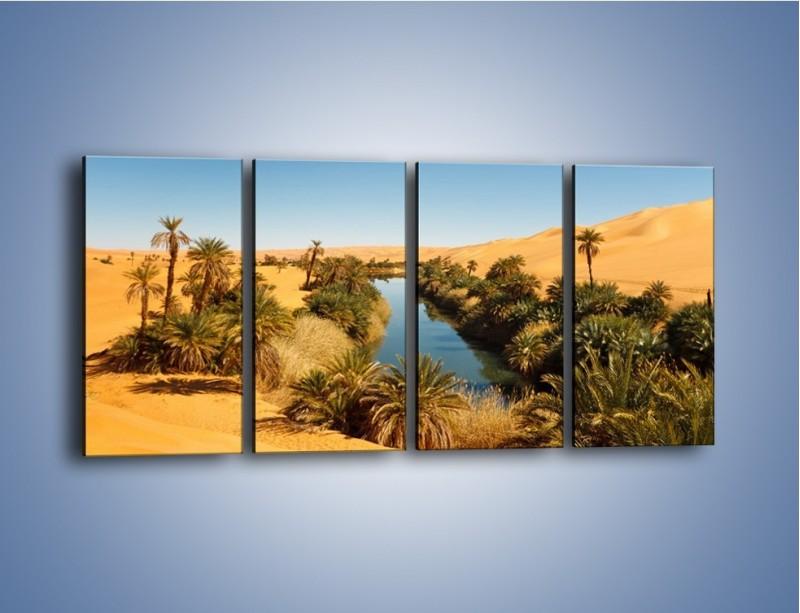 Obraz na płótnie – Woda woda na pustyni – czteroczęściowy KN1294AW1