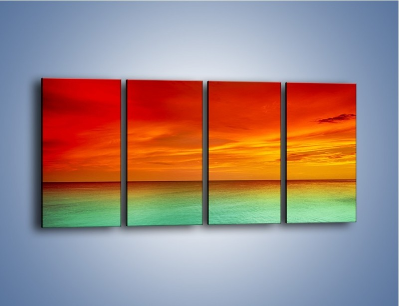 Obraz na płótnie – Horyzont w kolorach tęczy – czteroczęściowy KN1303AW1