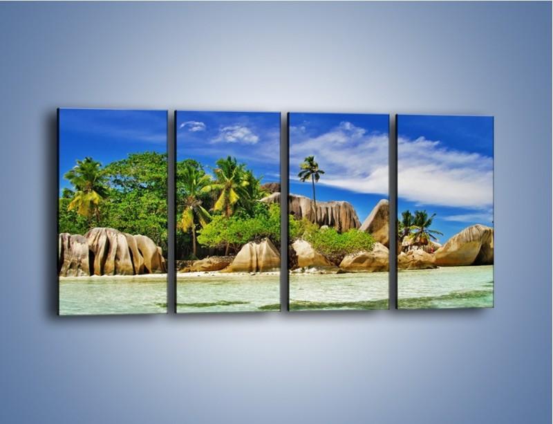 Obraz na płótnie – Tropiki i ich wysokości – czteroczęściowy KN1306AW1