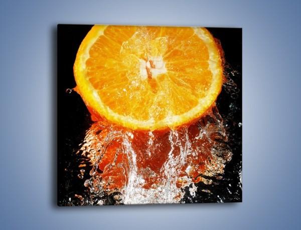 Obraz na płótnie – Soczysta pomarańcza o poranku – jednoczęściowy kwadratowy JN179