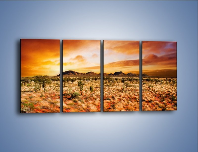 Obraz na płótnie – Oaza w kolorach ognistej ziemi – czteroczęściowy KN192W1