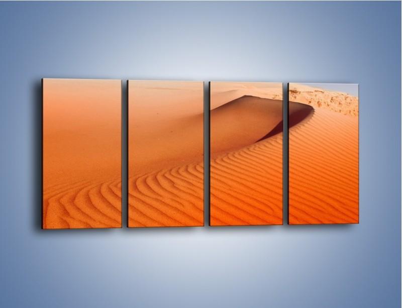 Obraz na płótnie – Pustynny żar – czteroczęściowy KN305W1
