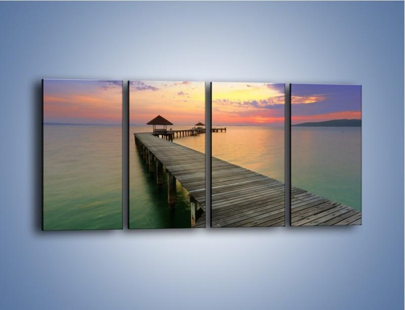 Obraz na płótnie – Krętym pomostem do morza – czteroczęściowy KN327W1