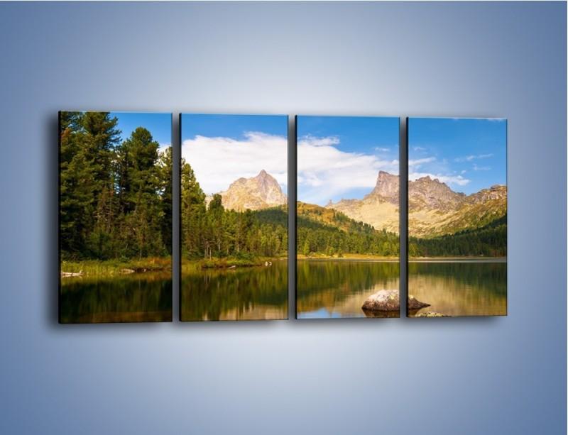 Obraz na płótnie – Widok nie tylko na góry – czteroczęściowy KN401W1