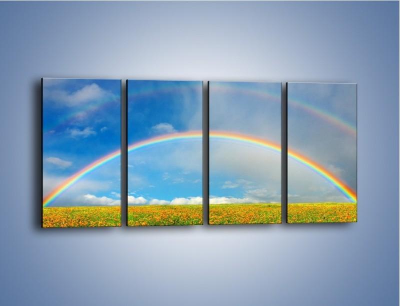 Obraz na płótnie – Urok kolorowej tęczy – czteroczęściowy KN406W1