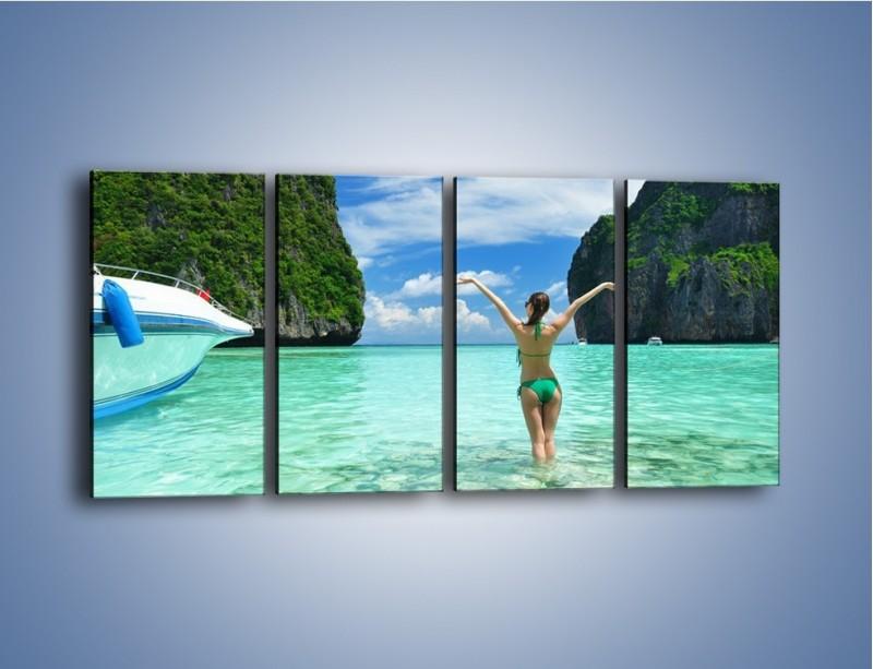 Obraz na płótnie – Udane wakacje w ciepłych krajach – czteroczęściowy KN530W1