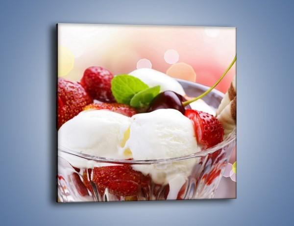 Obraz na płótnie – Lodowy deser w południe – jednoczęściowy kwadratowy JN187