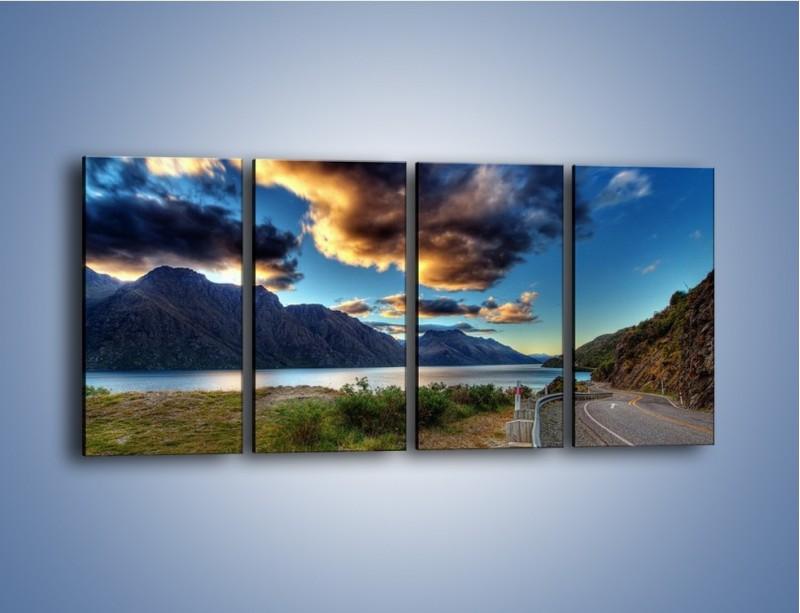 Obraz na płótnie – Droga w jedną stronę – czteroczęściowy KN752W1