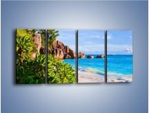 Obraz na płótnie – Brzeg morza jak z bajki – czteroczęściowy KN755W1